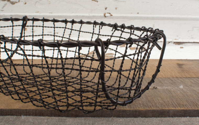 Iron Oval Basket - Small