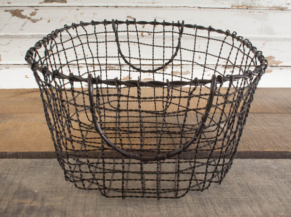Iron Wire Basket Set - Oval - Set of 3 - HOME DECORATIVE ACCENTS - 5