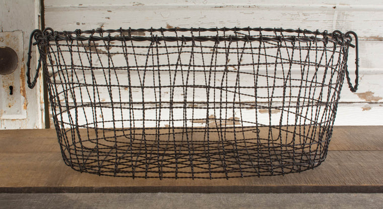 Iron Oval Basket - Large
