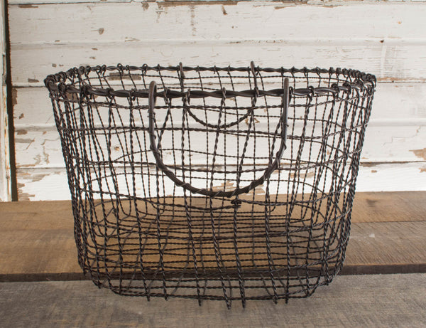 Iron Wire Basket Set - Oval - Set of 3 - HOME DECORATIVE ACCENTS - 6