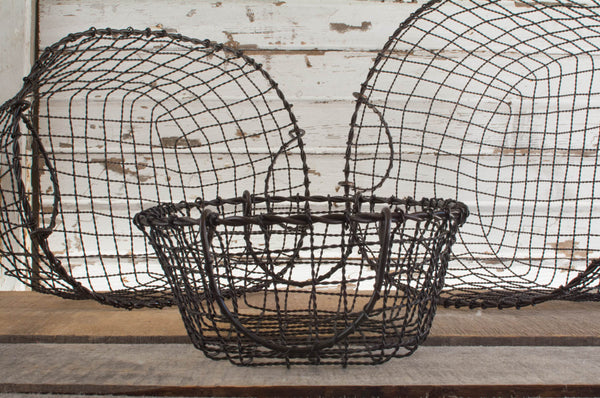 Iron Wire Basket Set - Oval - Set of 3 - HOME DECORATIVE ACCENTS - 2