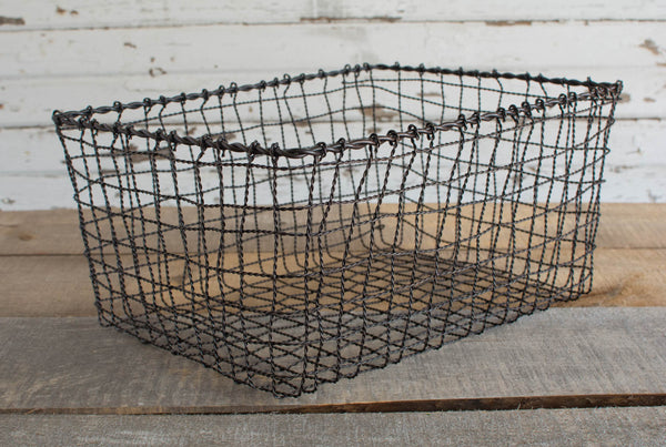 Iron Wire Basket - Rectangle - Large - HOME DECORATIVE ACCENTS - 2