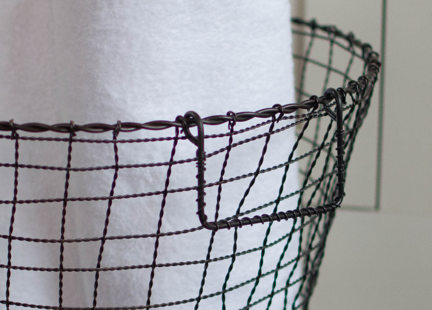 Iron Wire Basket with Handles - Round - Large   Home Decorative ...