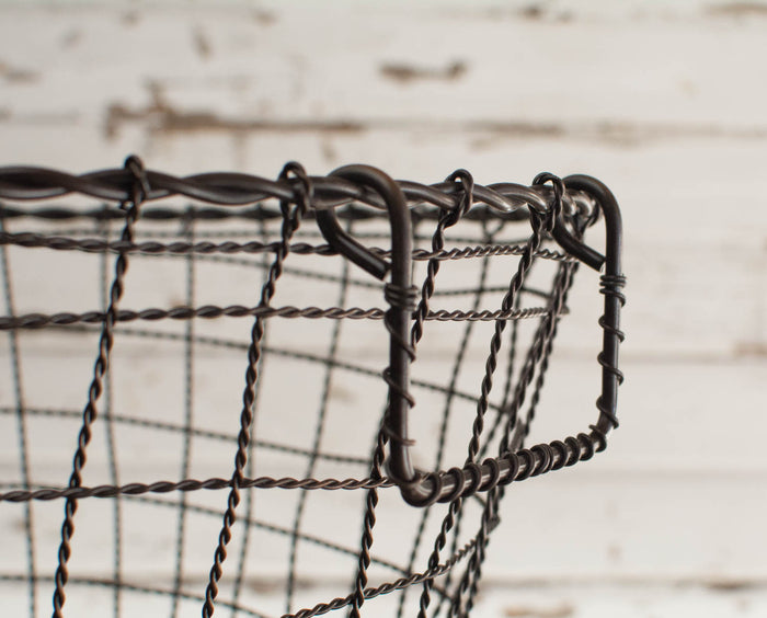 Iron Wire Basket with Handles - Round - Large - HOME DECORATIVE ACCENTS - 3