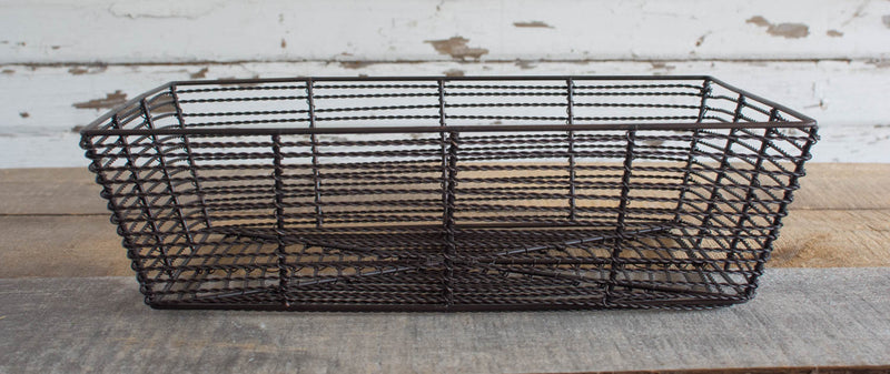 Iron Wire Basket - Trapezoid - Large - HOME DECORATIVE ACCENTS - 2