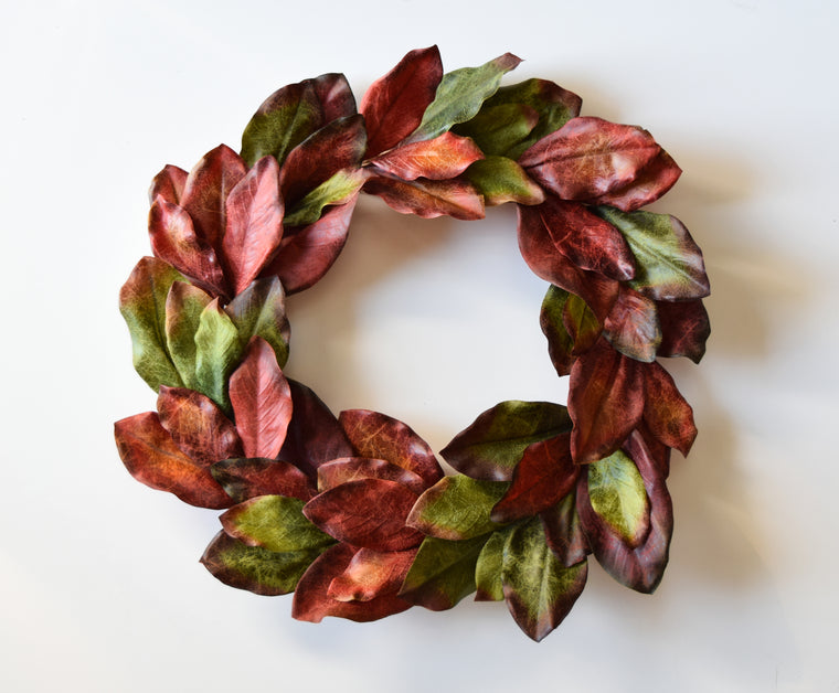 Jeweled Magnolia Wreath - 24