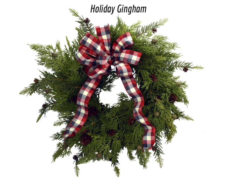Holiday Gingham - grey/white/red