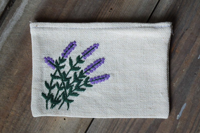 Embroidered Lavender Sachet Bag - Set of 4