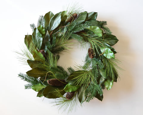 Merry Magnolia Wreath - 26""
