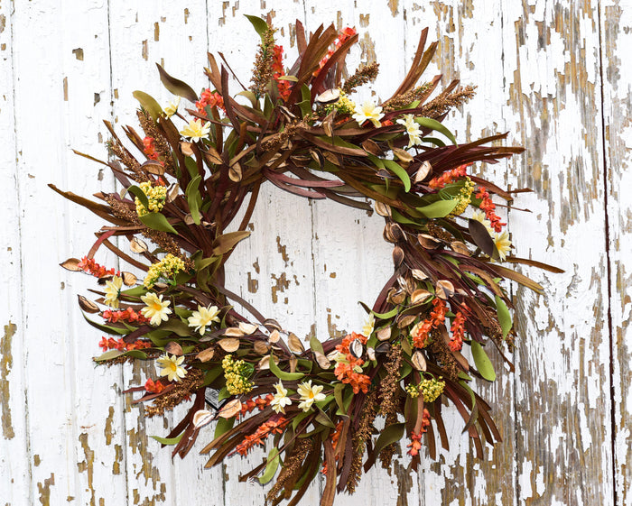 "Mountain Fields Wreath - 24"" - HOME DECORATIVE ACCENTS - 1"