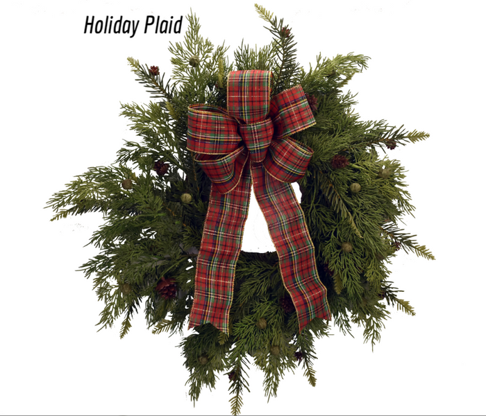 Holiday Plaid - red/green/gold