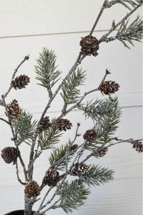 "Pinecone Snow Spray - 28"" - Set of 6 - HOME DECORATIVE ACCENTS - 2"