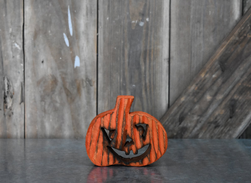Spooky Wooden Pumpkin - OR/RD