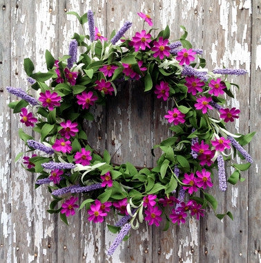 "Purple Passion Wreath - 20"" - HOME DECORATIVE ACCENTS"