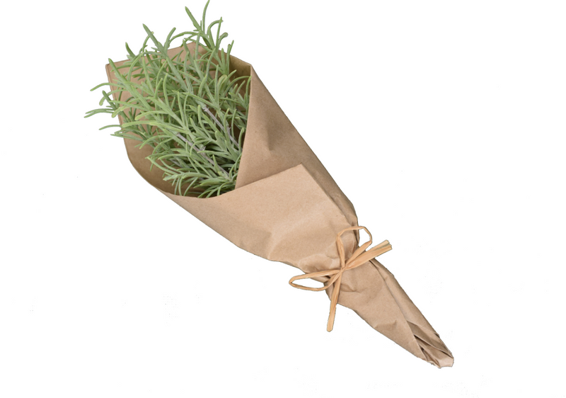 Rosemary Bunch in Kraft Paper - Faux