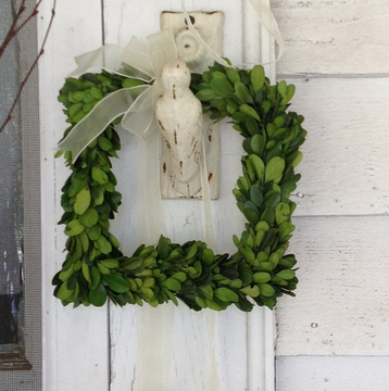 Preserved Boxwood Square Wreath - Set of 3 - HOME DECORATIVE ACCENTS - 3