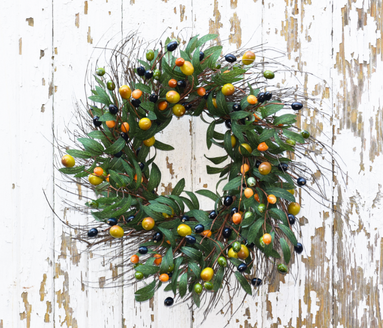 Tuscan Olive Wreath - 22 Inch