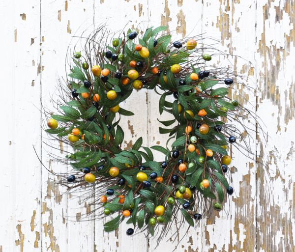 "Tuscan Olive Wreath - 24"" - HOME DECORATIVE ACCENTS - 1"