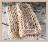 NEW Crochet Dishcloths Set Eco Friendly Cotton Washcloths Natural Beige Handmade Set of 2