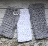 Handmade Kitchen Dish Cloths Gray Grey White Cotton Wash Cloth Cotton Set of 3