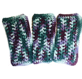 Handmade Kitchen Dish Cloths Purple Mint Green Rustic Shabby Chic Eco Friendly Cotton Set of 3