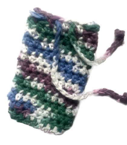 Soapsaver Bag Drawstring Beauty Shower Bath Soap Pouch Crochet Handmade