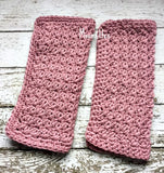 Handmade Kitchen Dish Cloths Rose Pink Cotton Shabby Crochet Set of 2