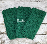 Handmade Cotton Dish Cloths Dark Green