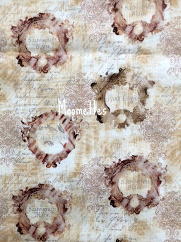 Regal Wine Label Fabric Susan Winget