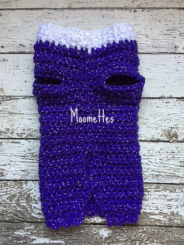 Handmade Purple Dog Sweater XS Extra Small Dogs Size 5 to 10 Pounds Pet Clothing