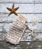 Handmade Soap Bag Beige Organic Cotton Soapsaver