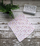 Handmade Dishcloths Organic Cotton Dish Cloths Scrubbie 3 Piece Set White Pink Yellow