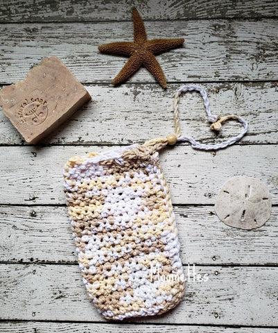 Handmade Cotton Soap Bag Oak Beige