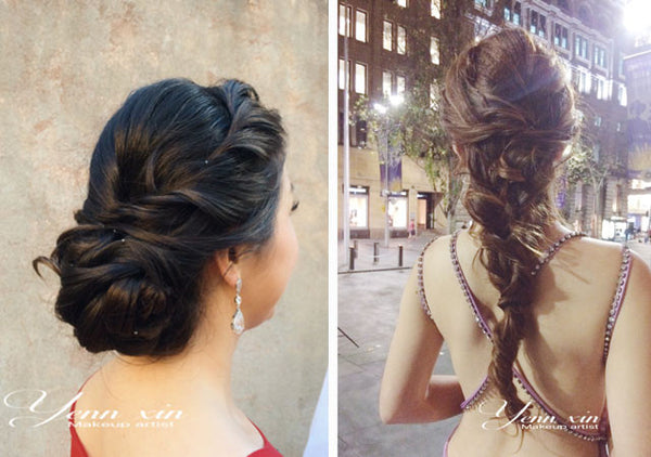 glamour bridal hairstyle by yennxin