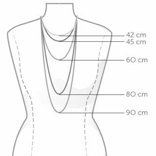 Idlewild Necklace Size Guide
