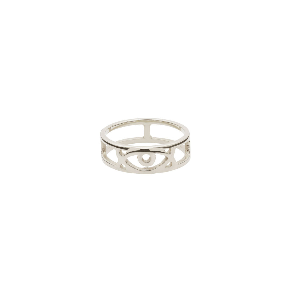 Adinkra Love Eye Ring