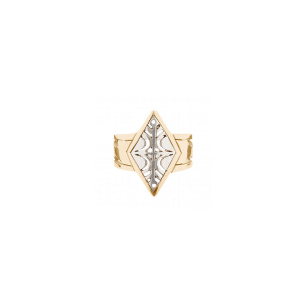 Reflection Diamond Shaped Ring