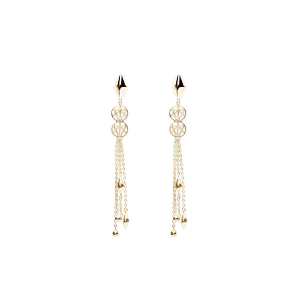 Criss Cross Chain Drop Earring