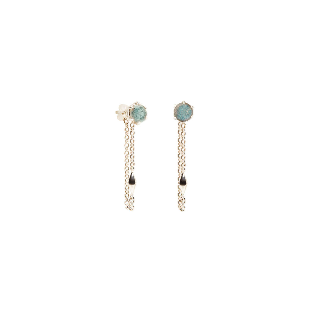 Aurora Gem Chain Earring