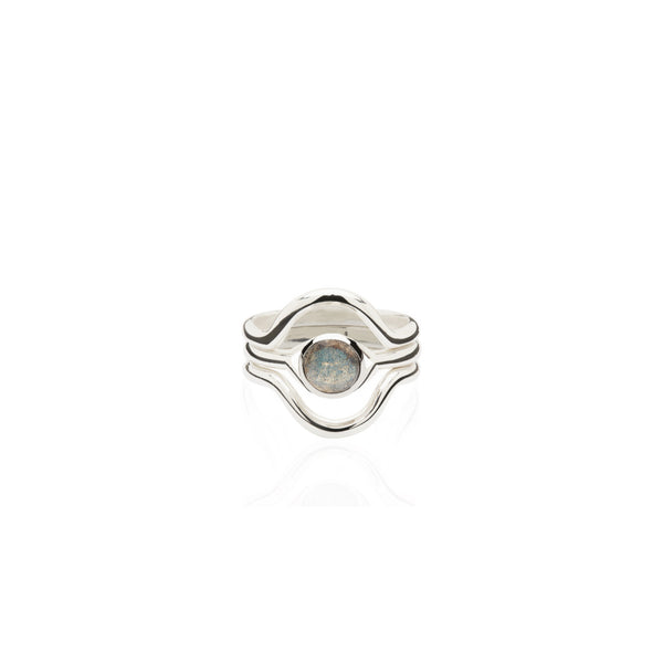 Aurora Gem Triple Stack Ring
