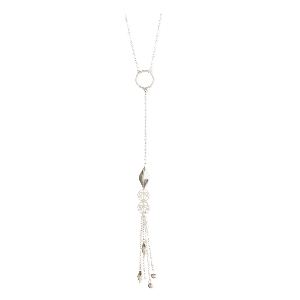 Criss Cross Lariat Necklace