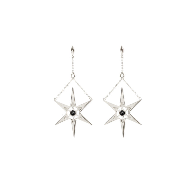 Orbiting Star Burst Drop Earring