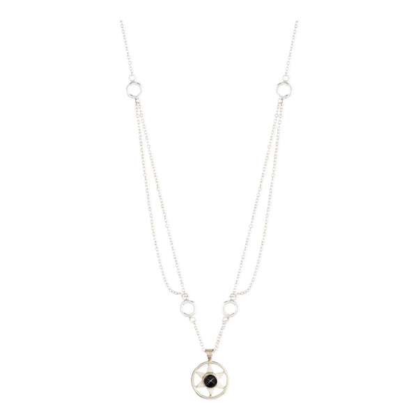 Idlewild Orbiting Star Gem Necklace Sterling Silver
