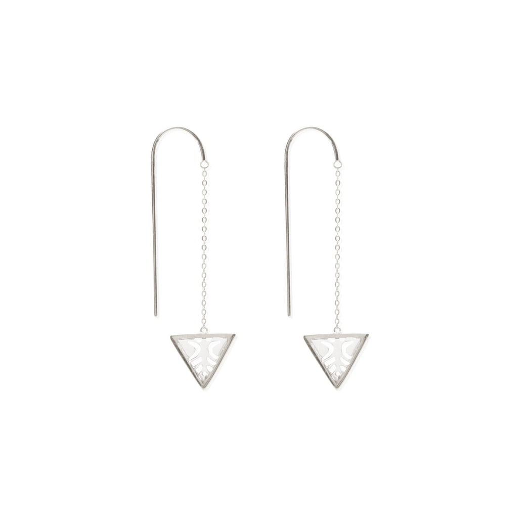 Reflection Drop Chain Earring
