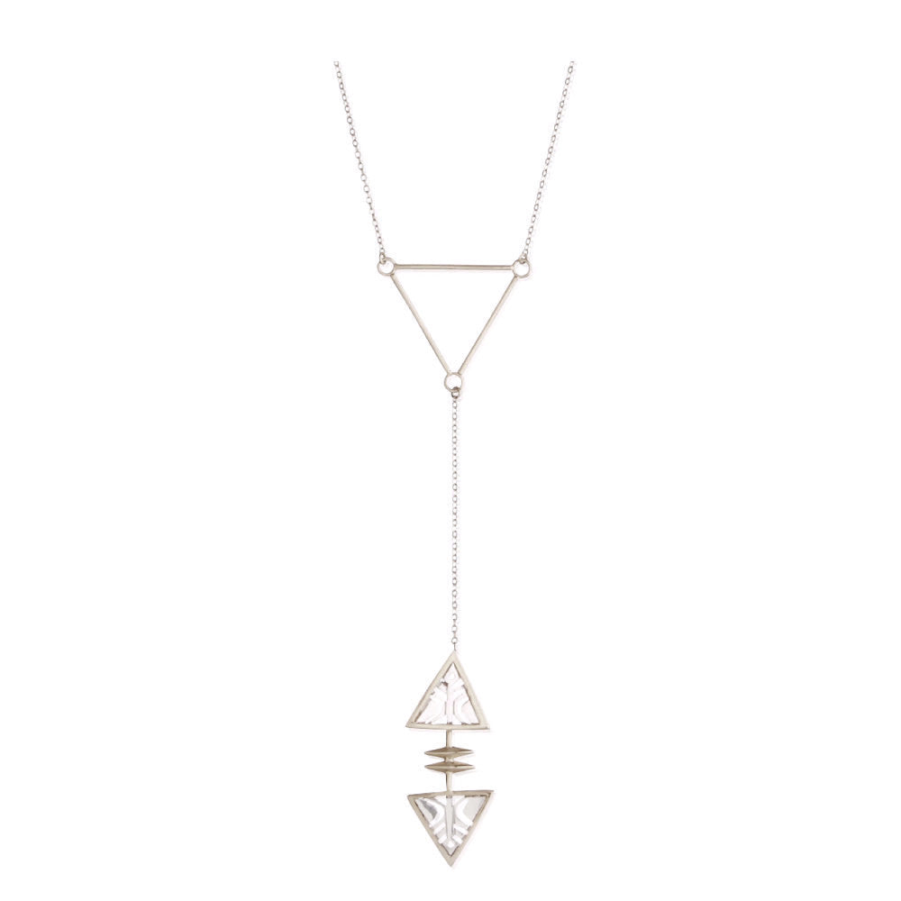 Idlewild Reflection Triangle Lariat Necklace Sterling Silver