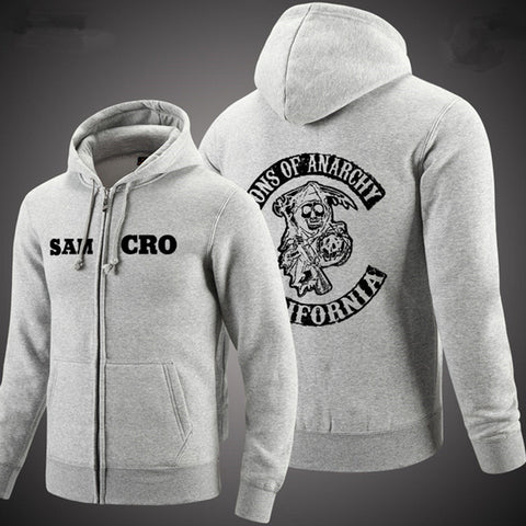 Trendy  Sons of Anarchy  Fleece Sweatshirt Hoodie FREE SHIPPING!!