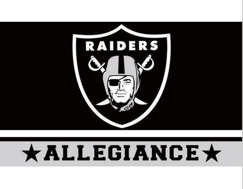 Oakland Raiders Football Flag 3ftx5ft