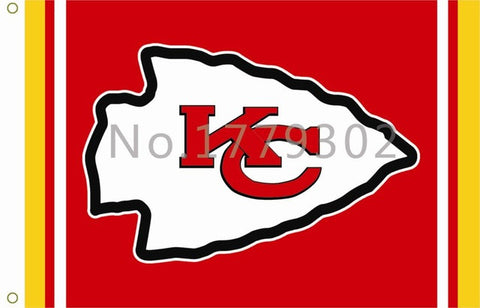 Kansas City Chiefs Football Flag 3ftx5ft