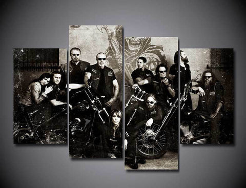 50% OFF - Sons Of Anarchy - 5 Panel Canvas Wall Art Decor - ***FREE SHIPPING***