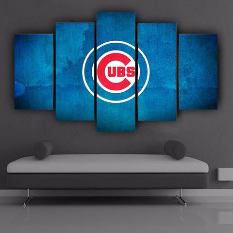 50% OFF - Chicago Cubs (A) - 5 Panel Canvas Wall Art Decor - ***FREE SHIPPING***